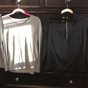 Petite tops, quarter zip and long sleeve